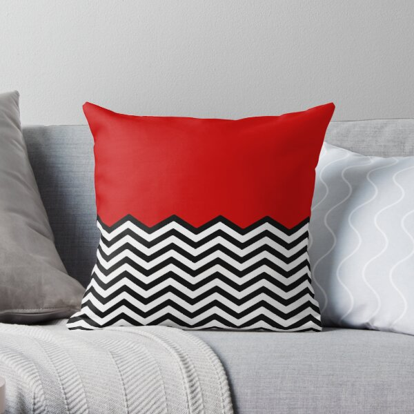 The Floor of Evil Throw | Twin Peaks Floor Pattern Throw Pillow