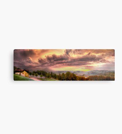 Swiss Storm Cell Panorama Metal Print