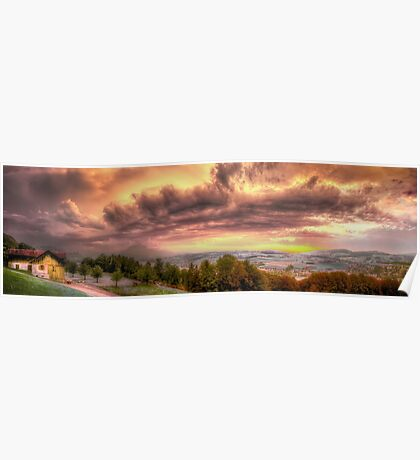 Swiss Storm Cell Panorama Poster