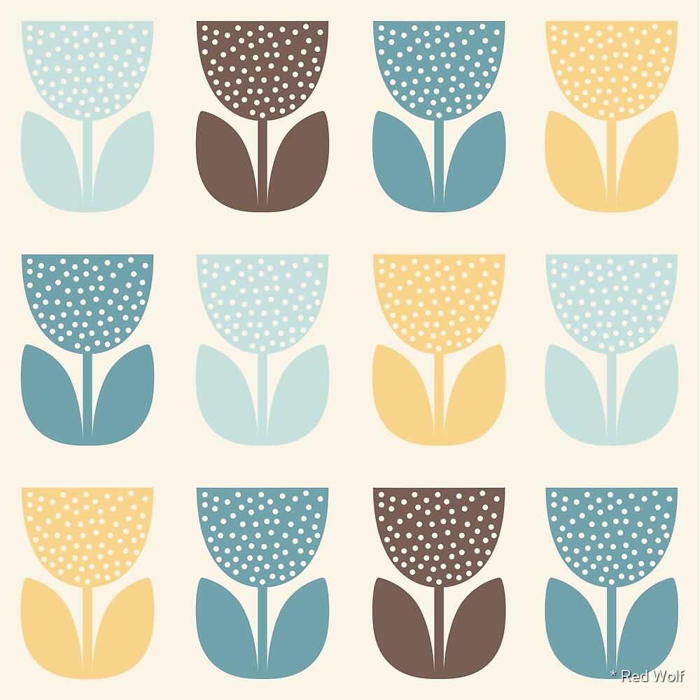Geometric Pattern: Poppy: Autumn by * Red Wolf