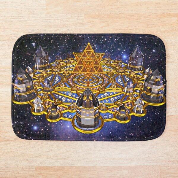 Pleiadian Lightcity Merkaba Stargate Bath Mat