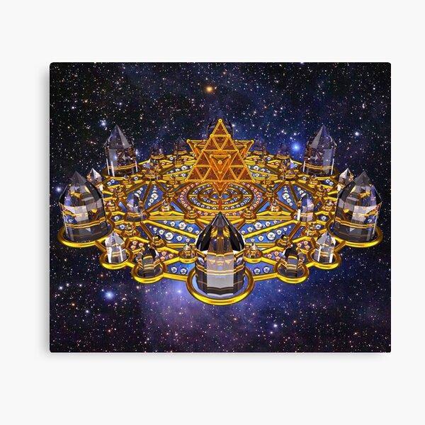 Pleiadian Lightcity Merkaba Stargate Canvas Print
