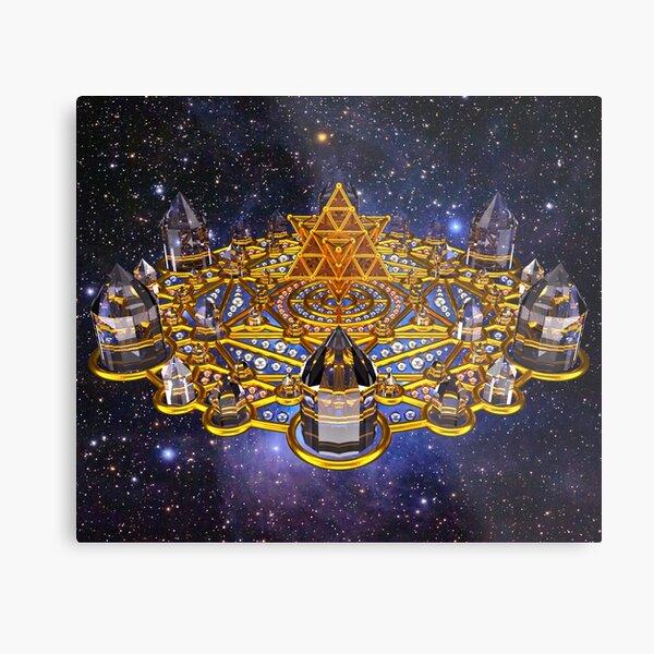 Pleiadian Lightcity Merkaba Stargate Metal Print