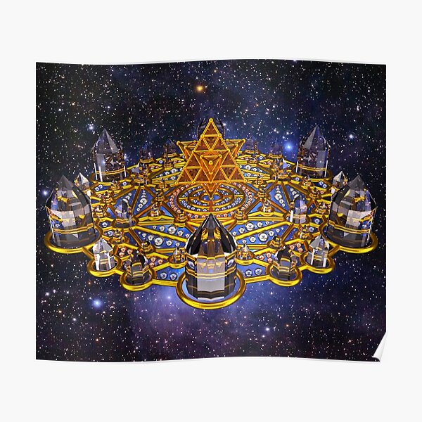 Pleiadian Lightcity Merkaba Stargate Poster
