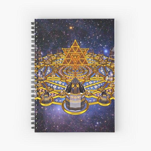 Pleiadian Lightcity Merkaba Stargate Spiral Notebook