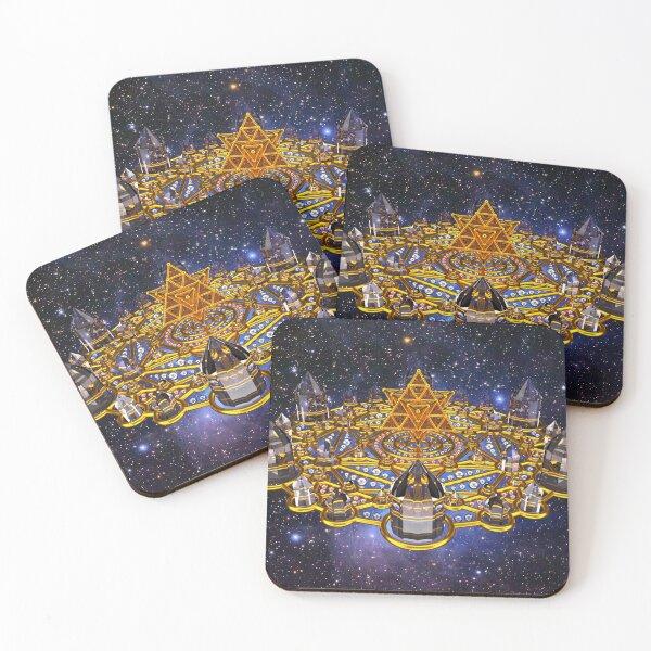 Pleiadian Lightcity Merkaba Stargate Coasters (Set of 4)