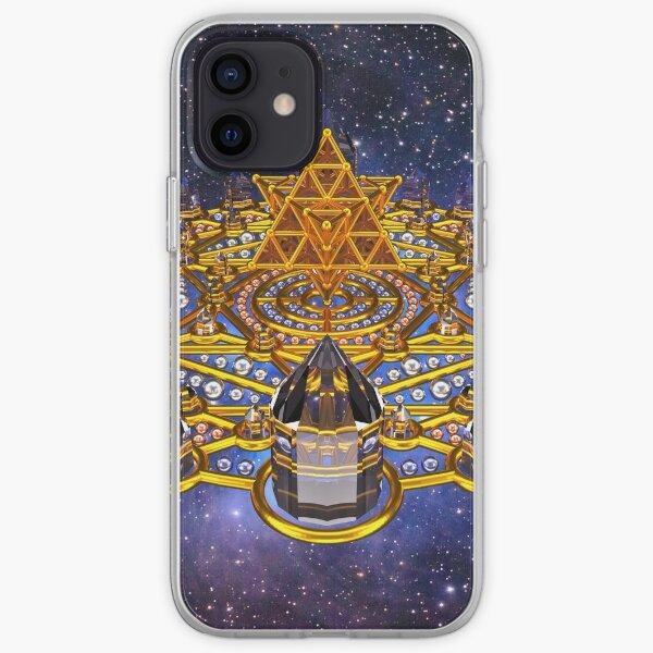Pleiadian Lightcity Merkaba Stargate iPhone Soft Case