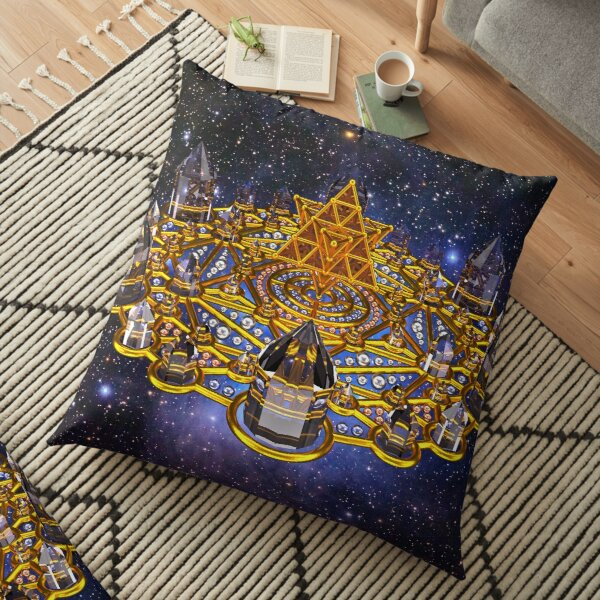 Pleiadian Lightcity Merkaba Stargate Floor Pillow