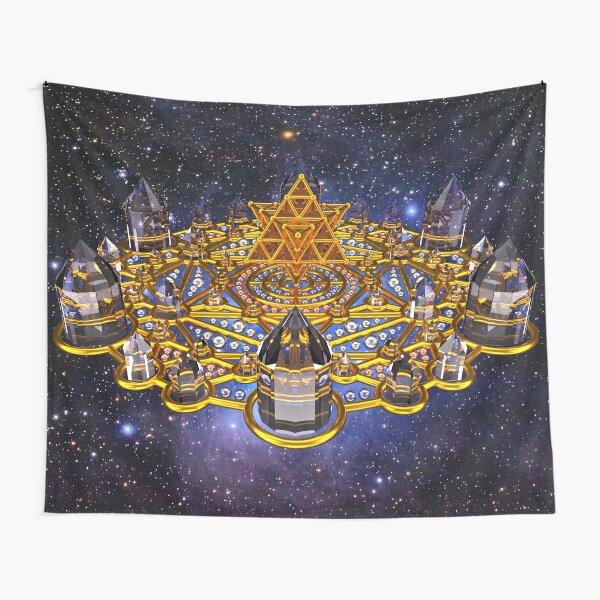 Pleiadian Lightcity Merkaba Stargate Tapestry