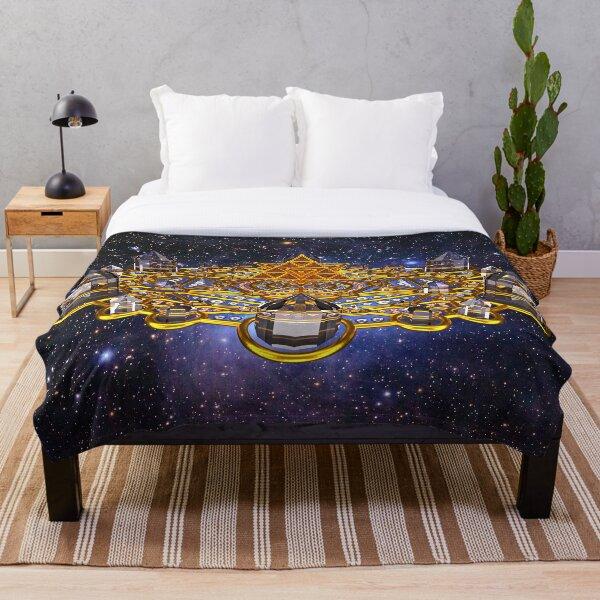 Pleiadian Lightcity Merkaba Stargate Throw Blanket