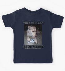 """The Daily Kitty """"Time To Own Some Noobs"""" Kids Tee"""