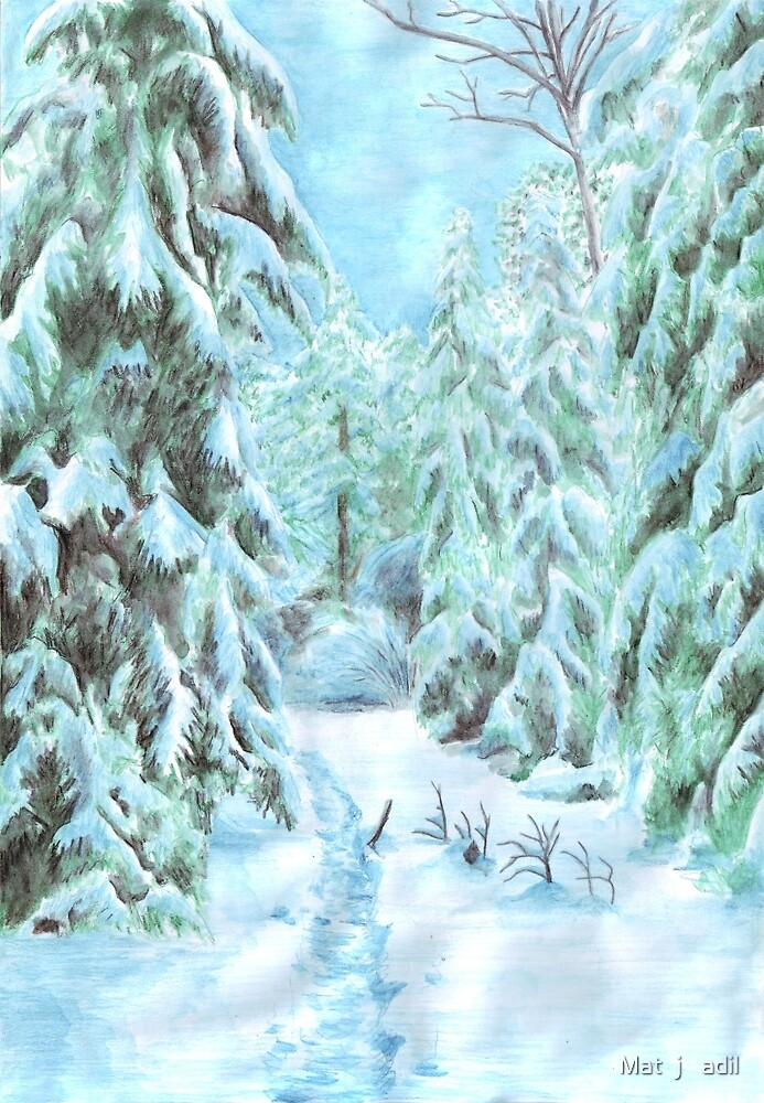 Winter Path by Matěj Čadil