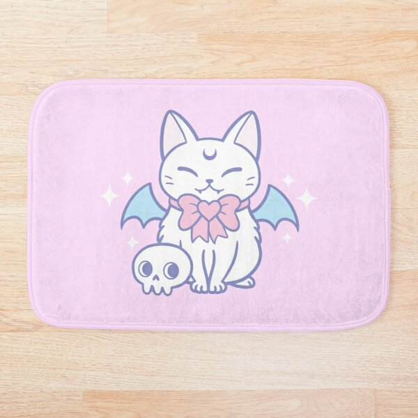 Bat Kitten 02   Nikury Bath Mat