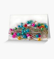 Coloured Pins Greeting Card