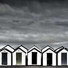 Goodrington Beach Huts- Torbay - UK by DARREL NEAVES