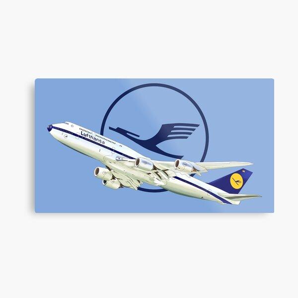 Logo Lufthansa Boeing 747 Metal Print
