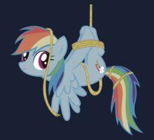 Tied-up pony