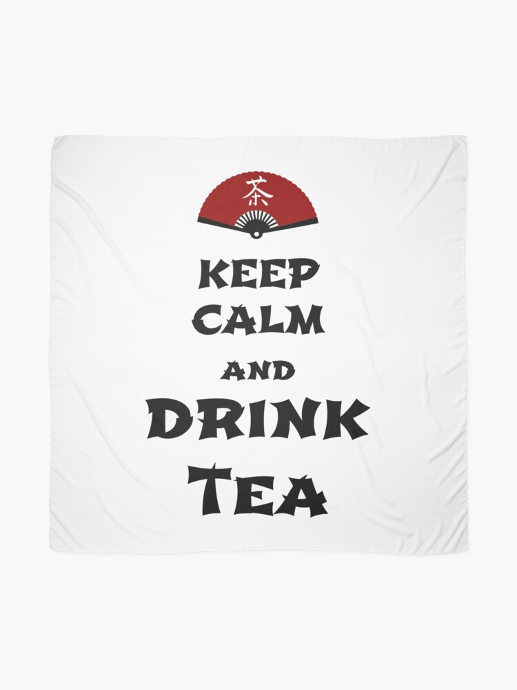 Alternate view of keep calm and drink tea Scarf