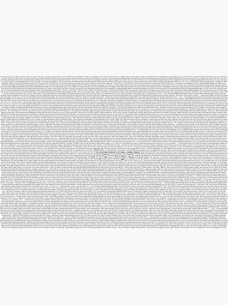 entire shrek script by Jijarugen
