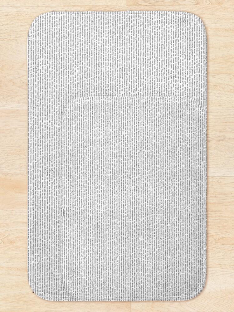 Alternate view of entire shrek script Bath Mat