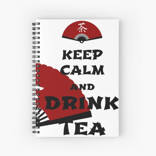 keep calm and drink tea - asia edition Spiral Notebook