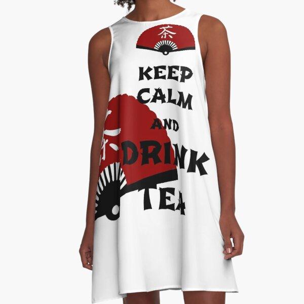 keep calm and drink tea - asia edition A-Line Dress