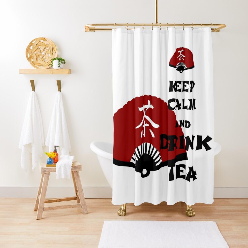 keep calm and drink tea - asia edition Shower Curtain