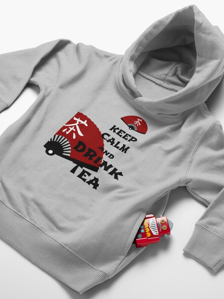 Alternate view of keep calm and drink tea - asia edition Toddler Pullover Hoodie