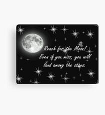 Reach for the Moon- Card Canvas Print