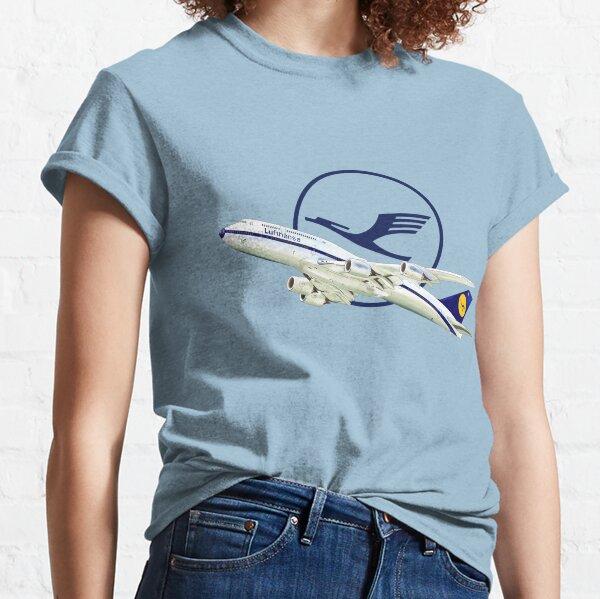 Lufthansa Airline 2 Black T Shirt