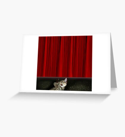 After the stage show... Greeting Card