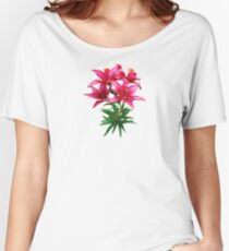 Magenta Lilies Women's Relaxed Fit T-Shirt