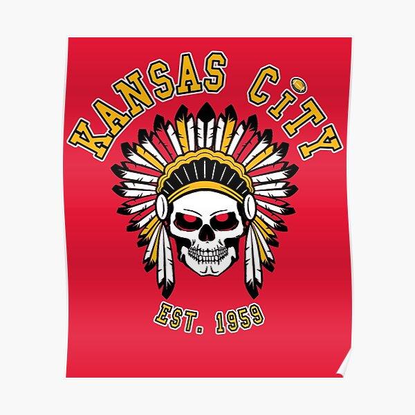 KC Kansas City 2020 Football Retro Vintage Cool Chief MO Fan  Poster