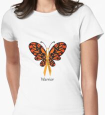 MS Multiple Sclerosis Warrior Tee Womens Fitted T-Shirt