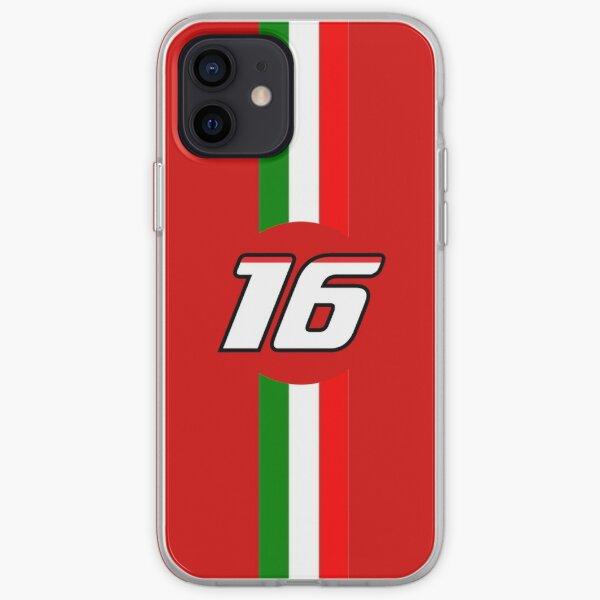 Numéro Ferrari Charles Leclerc Coque souple iPhone