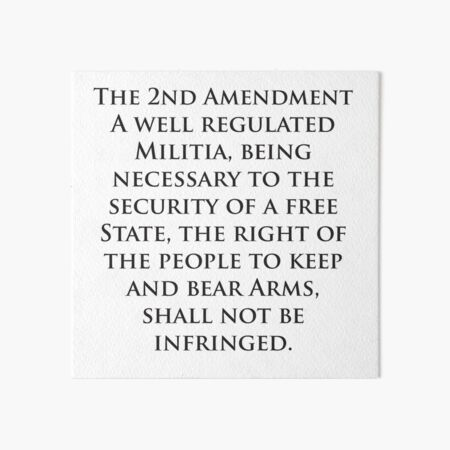 what does the 2nd amendment say word for word