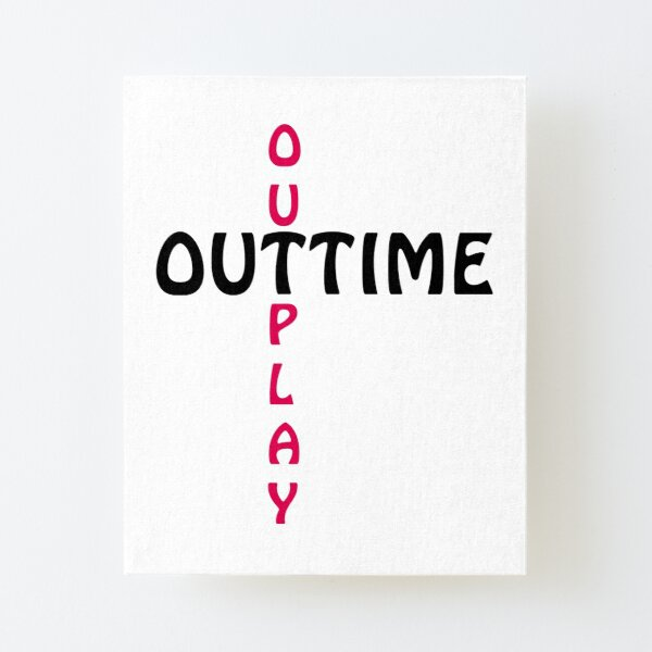 outtime / outplay Canvas Mounted Print