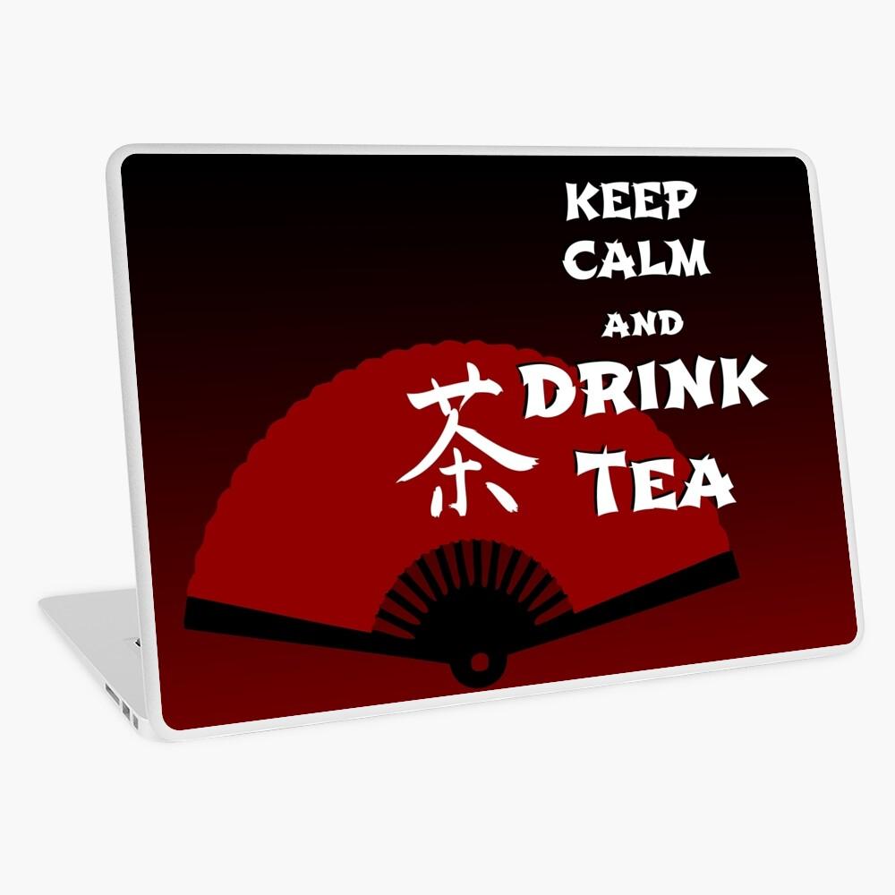 Keep Calm and Drink Tea - dark asia edition Laptop Skin