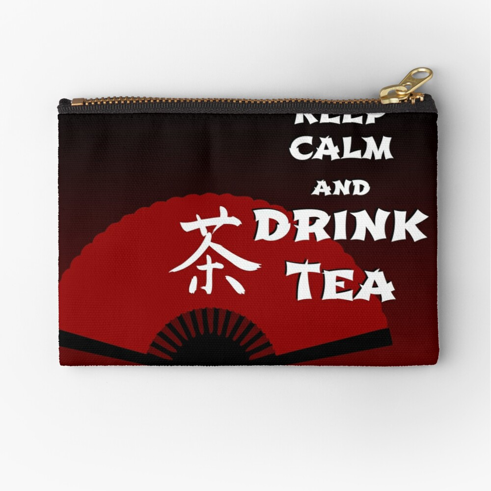 Keep Calm and Drink Tea - dark asia edition Zipper Pouch