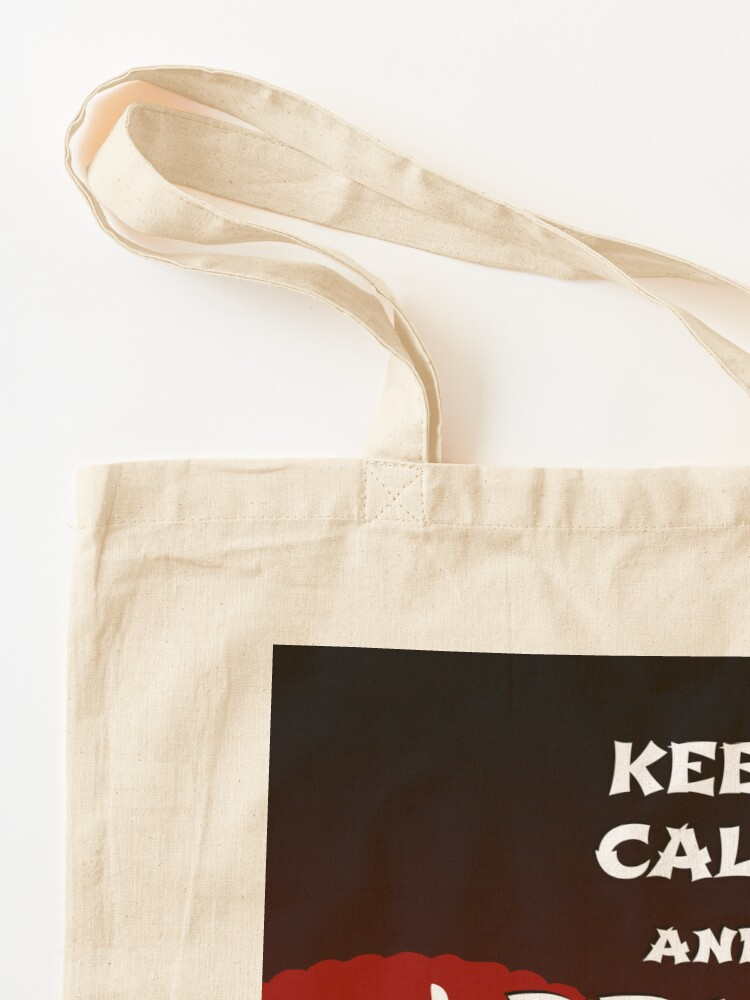 Alternate view of Keep Calm and Drink Tea - dark asia edition Tote Bag