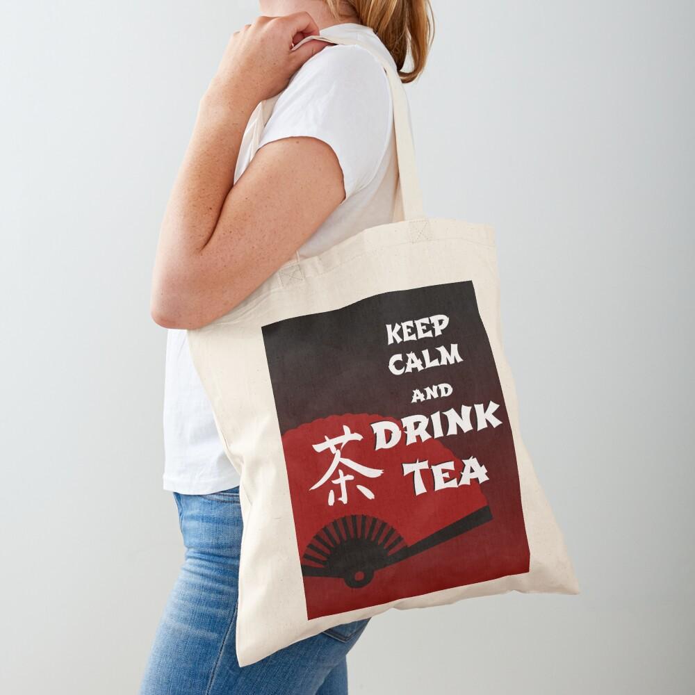 Keep Calm and Drink Tea - dark asia edition Tote Bag