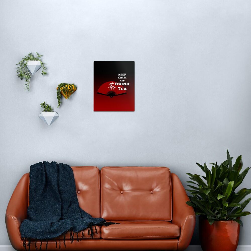 Keep Calm and Drink Tea - dark asia edition Metal Print