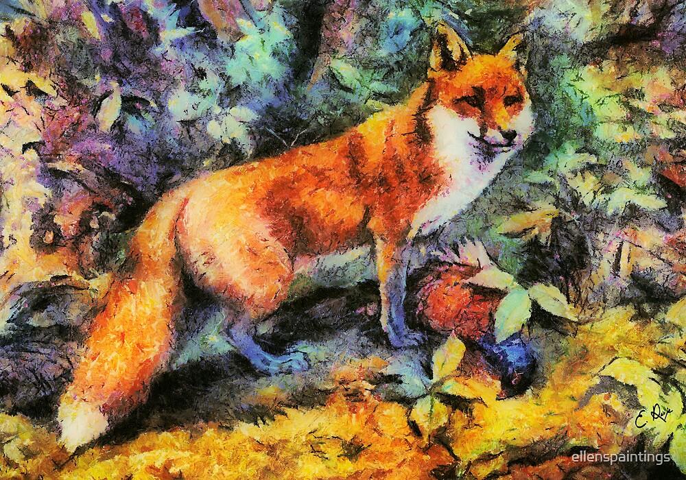 Red Fox by ellenspaintings