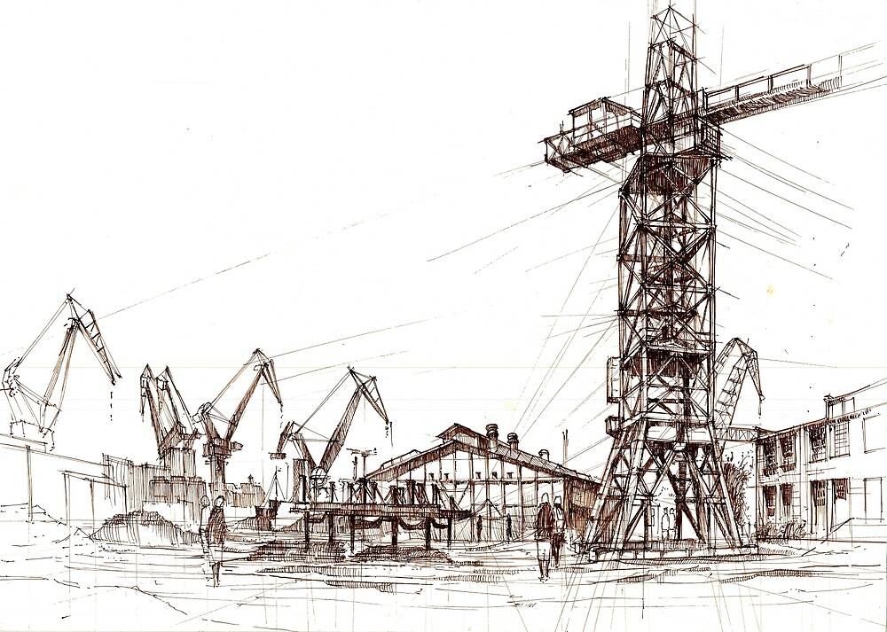 Gdansk Shipyard by KrystianWozniak