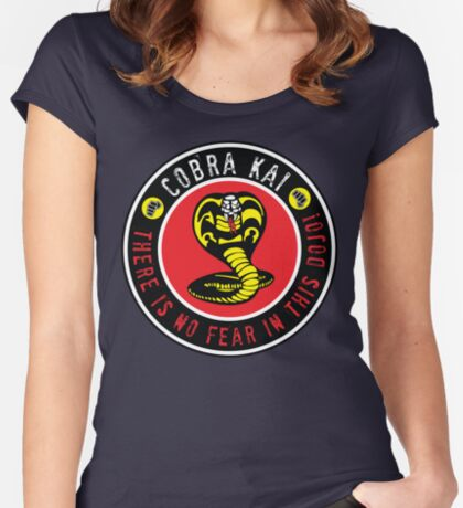 There is no fear in this dojo! Women's Fitted Scoop T-Shirt