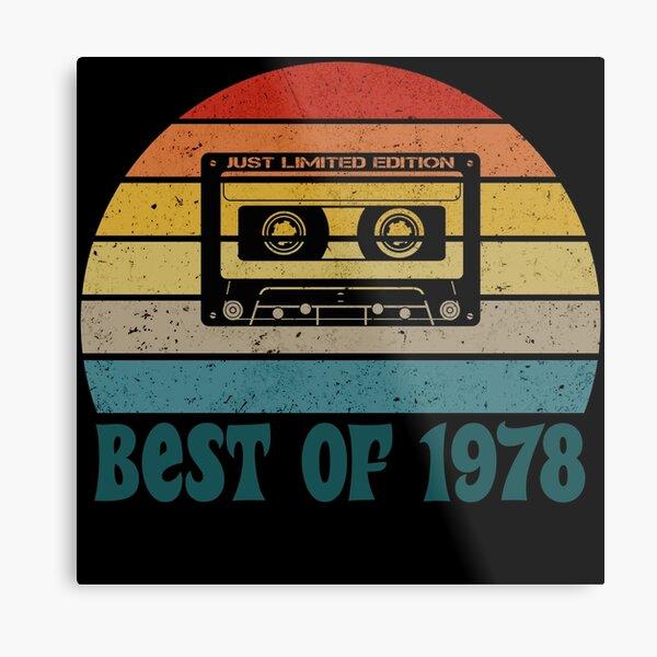Vintage Birthday, Best Of 1978 Metal Print