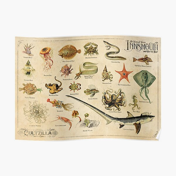 The Flora & Fauna of Innsmouth Poster