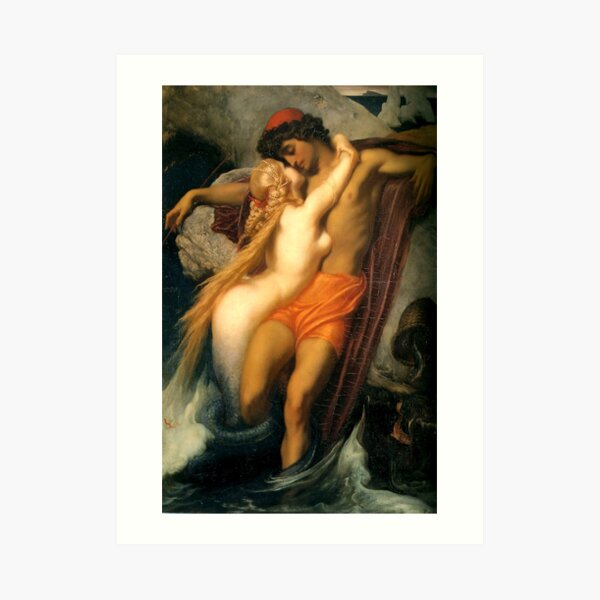 The Fisherman and the Syren - Sir Frederick Leighton Art Print