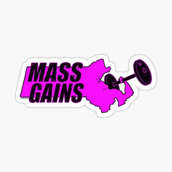MASS GAINS Sticker