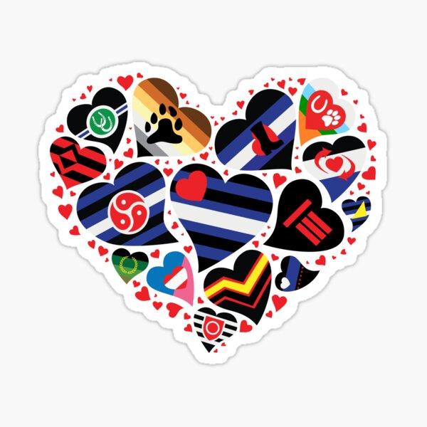 BDSM Pride Heart - Community Flags Sticker